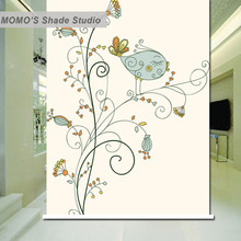 MOMO Thermal Insulated Blackout Fabric Custom Tree Window Curtains Roller Shades Blinds, Alice 191-195
