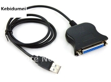 Kebidumei Best USB To 25 Pin DB25 Parallel Port Cable USB to 25 Pin DB25 Parallel Printer adapter Cable for pc laptop