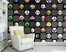 Custom football wallpaper, football fresco for children room bar KTV background papel de parede home decoration(China)