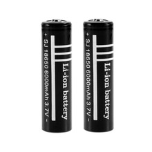2Pcs/lot High Quality Lithium Li ion Rechargeable Battery 18650 Batteries 3.7V 6000mAh for Flashlight Torch etc(China)