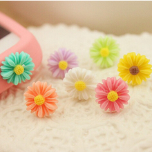 5pcs/lot Sunflower Little Daisy anti dust plug for iPhone 4 4s 5 5s Samsung Galaxy 3.5 mmphone dust plug