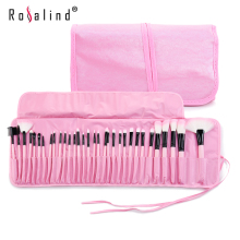 Stock Clearance !!! Rosalind 32Pcs Makeup Brushes Professional Cosmetic Make Up Brush Set The Best Quality!(China)