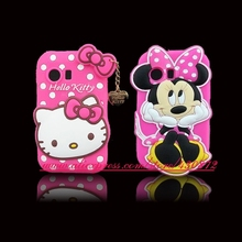 For Samsung Galaxy Y Case 3D Silicon Hello Kitty Minnie Soft Cell Phone Back Cover for Samsung Galaxy Y S5360