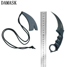 Damask Brand Sharp Durable 1 Pcs Fighting Claw Hunting Knives Practical Practical Handle Outdoor Knife New Karambit Knife