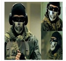 Make Up Skull Half Face Shield Halloween Parade Army CS Tactical Camouflage Mask SEALs Skeleton Masks Half Face Shield Mascarar