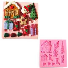 Christmas Tree XMAS Snowman Silicone Soap Molds Cake Fondant Mould Tool Cute