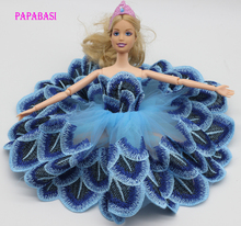1 Pieces Tutu Ballerina Skirt For Barbie Doll short Mini wedding dress Gift Baby Toy(China)