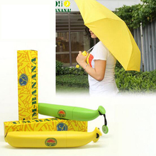 New Banana Umbrella Um-banana Yellow Novelty Umbrella High Quality Brand Banana Shaped Clear Rain Umbrellas Free Shipping#S556