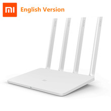 Xiaomi Mi WIFI Router 3 English Version WiFi Repeater 1167Mbps 2.4G 5GHz ROM 128MB Wireless Routers APP Control Xiaomi Router