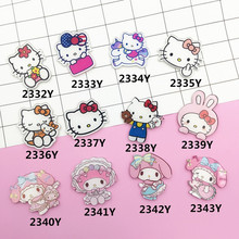 Min Order $5(Mix Order)  New Acrylic Brooches Badge Cartoon Decoration lapel pins icon lovely Kt cat Figure  Broche XZ144