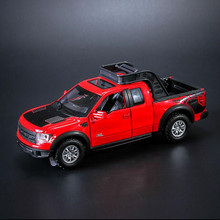 Ford F150 Raptor 1:32 car simulation model toy truck alloy car model sound and light children pull back car toys