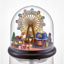 Diy Doll House Miniature 3D Puzzle Wooden Dollhouse miniaturas Dolls For House Birthday Creative Gifts Toys-Ferris wheel