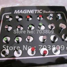Sena 48pcs lot 3 5mm Mix Colors Crystal Round Circle Magnet Stud Earrings  Men s ceb7c1a8b24b