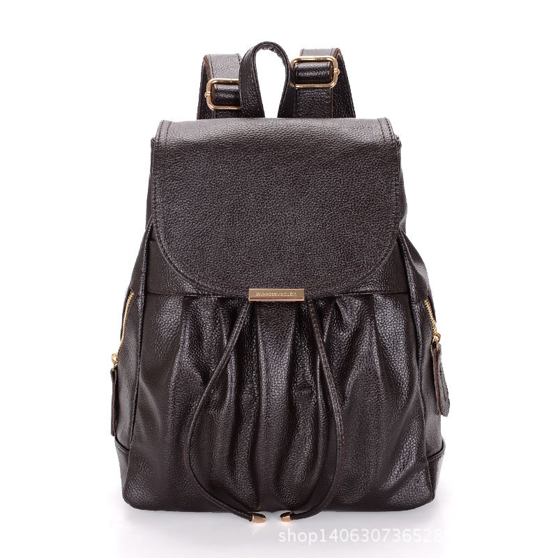 Womens Backpack High Quality 2017 Casual Genuine Leather Preppy Style Ladies Feminine Girls Student Schoolbag Travel Backpacks<br><br>Aliexpress