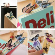 1 Pcs Cute Kawaii Lovely Paper Painted Bookmark Vintage Bookzzi 3D Butterfly Book marks korean Stationery(China)