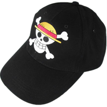 One PCS Cosplay Straw Hat Pirates Monkey D Luffy Skull Heads Logo Baseball Cap Unisex Peaked Cap Cartoon hike hip hop sun hat(China)