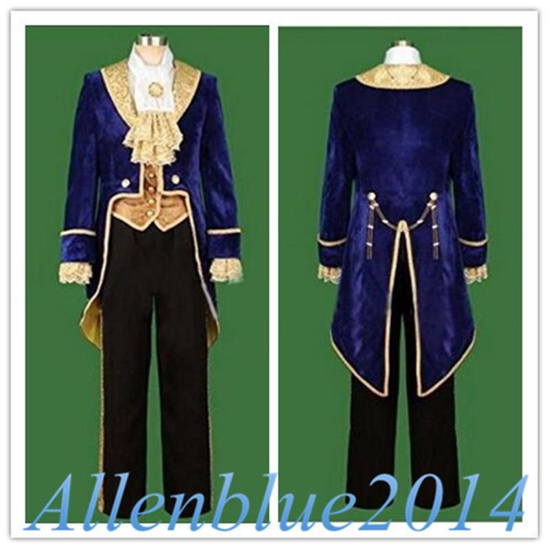 Movie Beauty and the Beast Prince Adam Luxurious Velvet Tuxedo Outfits Men Cosplay Dress Costume 2017