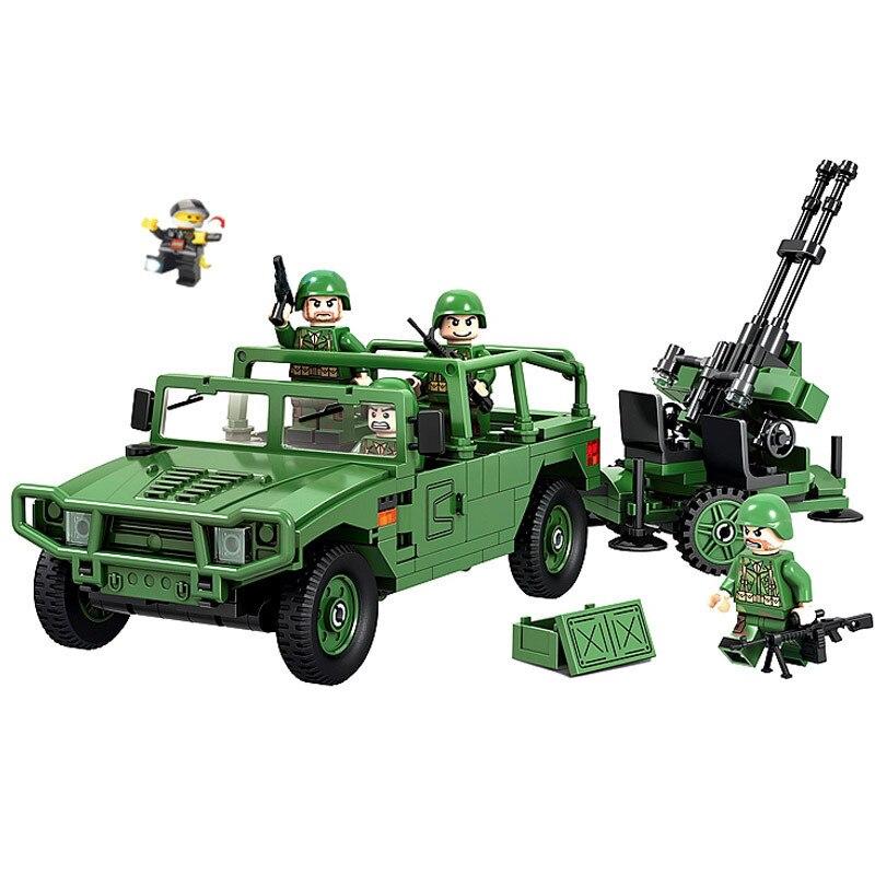 QWZ Tank Battle Towed AA Gun Artillery Military Series Building Blocks DIY Educational Assembled Brick Kids Toys Children Gifts<br><br>Aliexpress