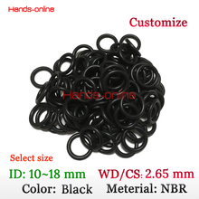 Select ID 10 10.6 11.2 11.8 12.5 13.2 14 15 16 17 18 mm O Ring 2.65mm CS oil resistant Nitrile Butadiene Rubber sealing o-ring