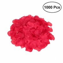1000pcs Lifelike Artificial Silk Red Rose Petals Decorations Wedding Party Decorations RD Valentine petale de rose(China)