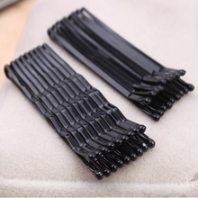60Pcs Black Invisible Hair Clips Wave Straight Pins Grips Barrette Popularity Simple Hairpin For Alloy Hair Accessories