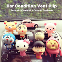 JELC Car-Styling Decorative Tablet Perfume Conditioning Vent Clip Air Freshener Cute Doll Minions SpongeBob Car Refreshing Agent(China)