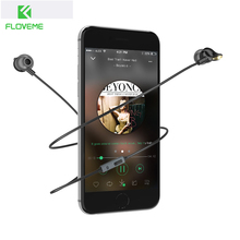 FLOVEME Luxury Ceramic Headset Stereo Music In Ear Earbuds Nano Earphone For iPhone Samsung Mic and Control For iPod Android iOS(China)