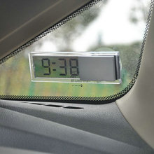Mini Vintage Car Auto Vehicle Monitor LCD Digital Display Room Clock With Suction Cup Portable Small