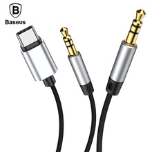 Baseus Aux Audio Cable USB Type C to Jack 3.5 mm Adapter For USB C Type-c 3.5mm Jack to Jack Aux Cable For Car Headphone Speaker