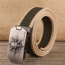 Buy New Arrival men's canvas belt tiger metal buckle military belt Army tactical belts Male top men strap 140 cm for $3.79 in AliExpress store