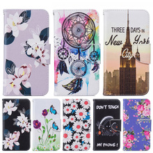 Flower Printed Pattern Design PU Leather Wallet Style Flip Case For Microsoft Nokia Lumia 650 N650 5'' Cover Phone Bag B116(China)