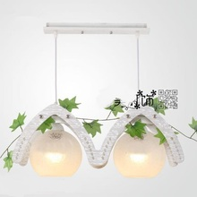 Pastoral style single LED creative Chinese restaurant pendant light bar modern and simple lamp