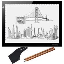 "Huion L4S 17.7"" LED Light Box 5mm Thinckness Touch Brightness Graphic USB Animation Tatoo Tracing Board Pencils Glove Xmas Gifts"