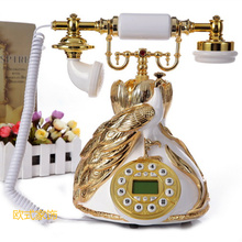New style antique telephone European pastoral telephone set fashion retro telephone corded phone ringing tones(China)