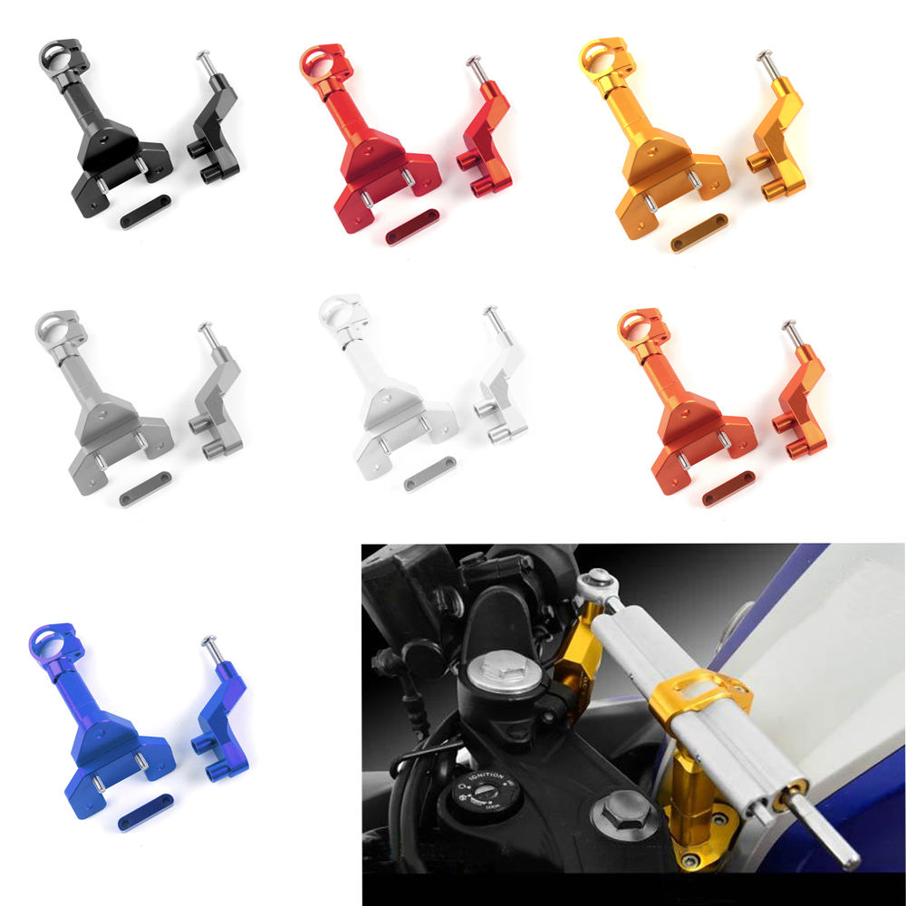 Motorcycle Accessories CNC Adjustable Steering Stabilize Damper Bracket Mounting kit Fit for YAMAHA YZF R25 R3 MT-25 14 15 16<br>