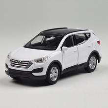 1pc 11cm 1:36 Welly HYUNDAI Santa Fe Alloy car pull back model toy home decoration boy children baby toy Gift(China)