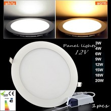 LED panel lights12v 3w/6W/9W/12W/15W/18W/ led ceiling light SMD2835 Warm /day white Suitable for the ship yacht indoor lighting(China)