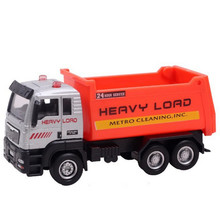 2017 Kids Children Toy Vehicles Back In The Toy Car Debris Transporter Toy Car Birthday Present Gift Alloy Transporter Toy truck