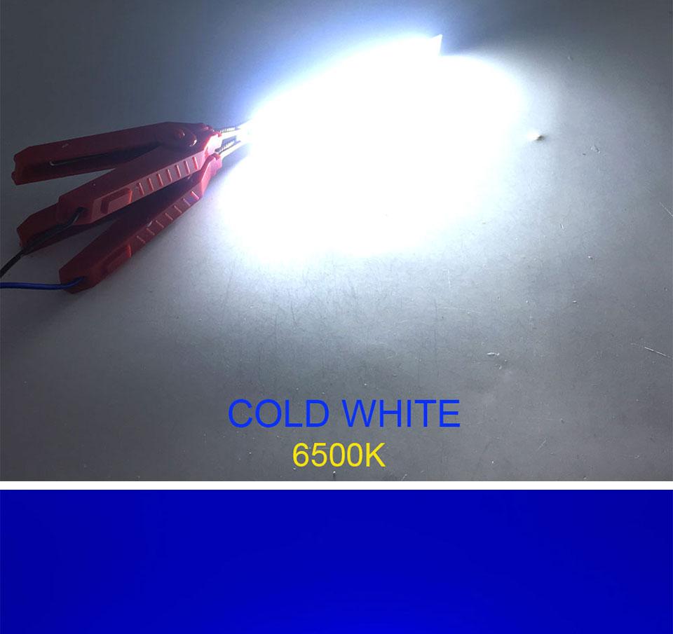 120mm 4.72in LED Bar Light Strip COB Bulb 12V 7W 10W LED Lamp Green Blue Red White Emitting Colors 12010mm COB Chip (14)