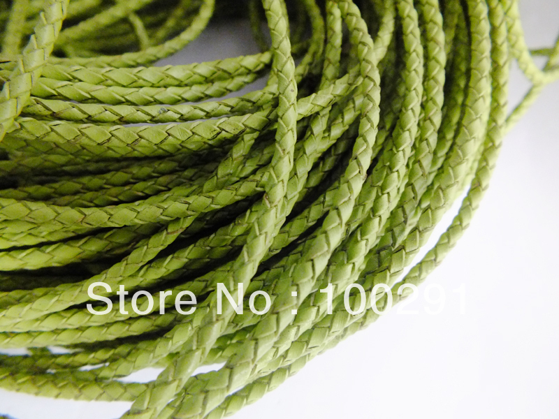 Free shipping !!!  Handmade Genuine Leather Braided Great Price wholesale necklace bracelet jewelry findings 3mm 100m/lot