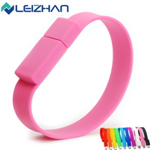 Colorful HighSpeed USB Silicone Bracelet Wrist Band 4GB 8GB 16GB 32GB 64DB USB Flash Drive Pen Drive Stick U Disk Pendrives gift