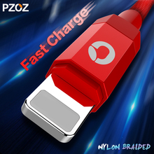 Pzoz Data Cable For iPhone Charger Lighting Cable Fast 2m ios 10 USB For iphone 6 s 7 plus i6 i5 iphone 5 5s Mobile Phone Cabel(China)