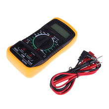 Backlight yellow color XL830L LCD Digital Multimeter DC AC Voltage Diode Freguency Multitester(China)
