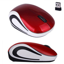 Cute Mini 2.4 GHz Wireless Optical Mouse Mice For PC Laptop Notebook Red