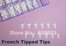Freeshipping - Medium White french nail wrap tips / French Tipped tips professional salon manicure 120 tip / set(China)