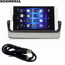 New Desktop Dual Sync Battery Fast Charger Anti-overcharge Cradle Dock Station Stand For Blackberry Z10(China)