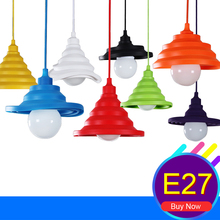 Colorful E27 Home Wire Base DIY Flexible Shape Silica Gel Hanging Ceiling Lamp Light Restaurant Bedrooms Pendant Lighting Decor