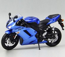 1:12 Scale DIY Assembly Model Motorcycle Kawasaki ZX-6R Metal Kit Diecast Motorbike Model Brinquedos Collection Kids Toys