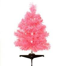 mini artificial christmas tree creative tinsel tabletop ornament pink xmas tree new year desktop decorations home ornaments