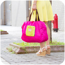 vanzlife Korean candy colored shopping bag portable collapsible bag supermarket bags